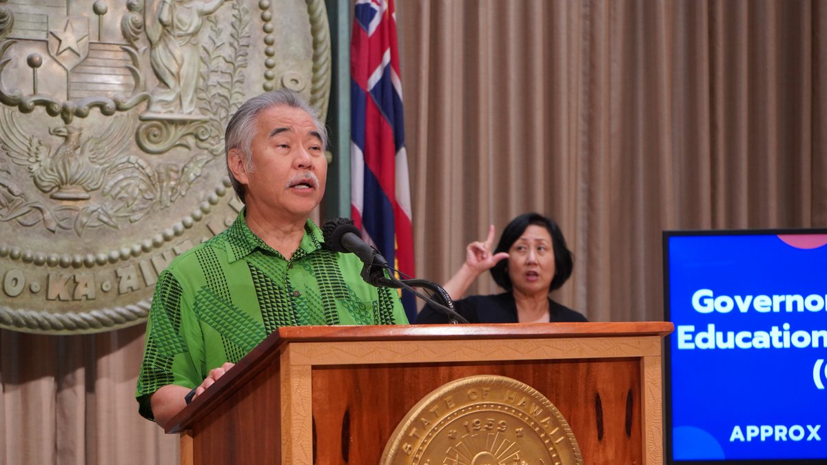 Governor announces $4 million in GEER innovation grants for Hawaii schools and educational...
