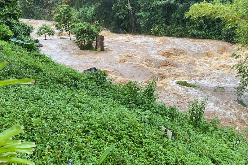 Rivers statewide raged to dangerous level.