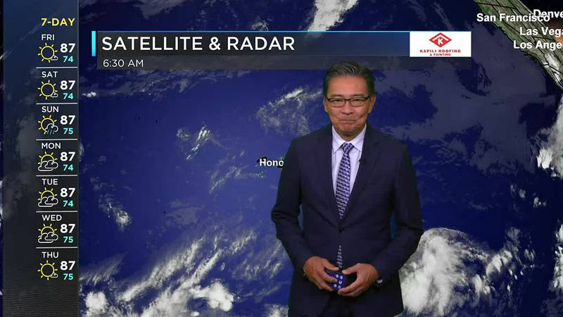 Morning Weather Forecast from Hawaii News Now - Friday, September 24, 2021