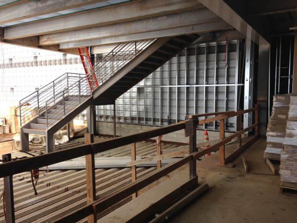 Rail Operations Center construction
