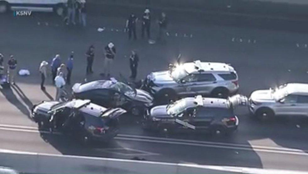 Las Vegas crash scene
