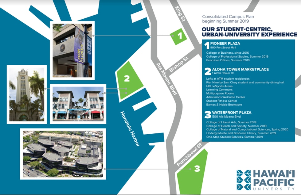 Hawaii Pacific University expands its campus as the new leaseholder of 120,000 feet of space in...