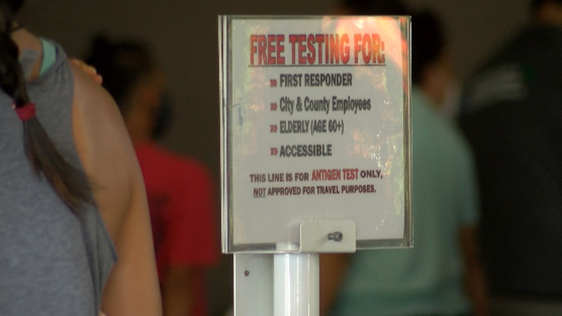 The airport testing site is Oahu's only free testing site that is open every day.