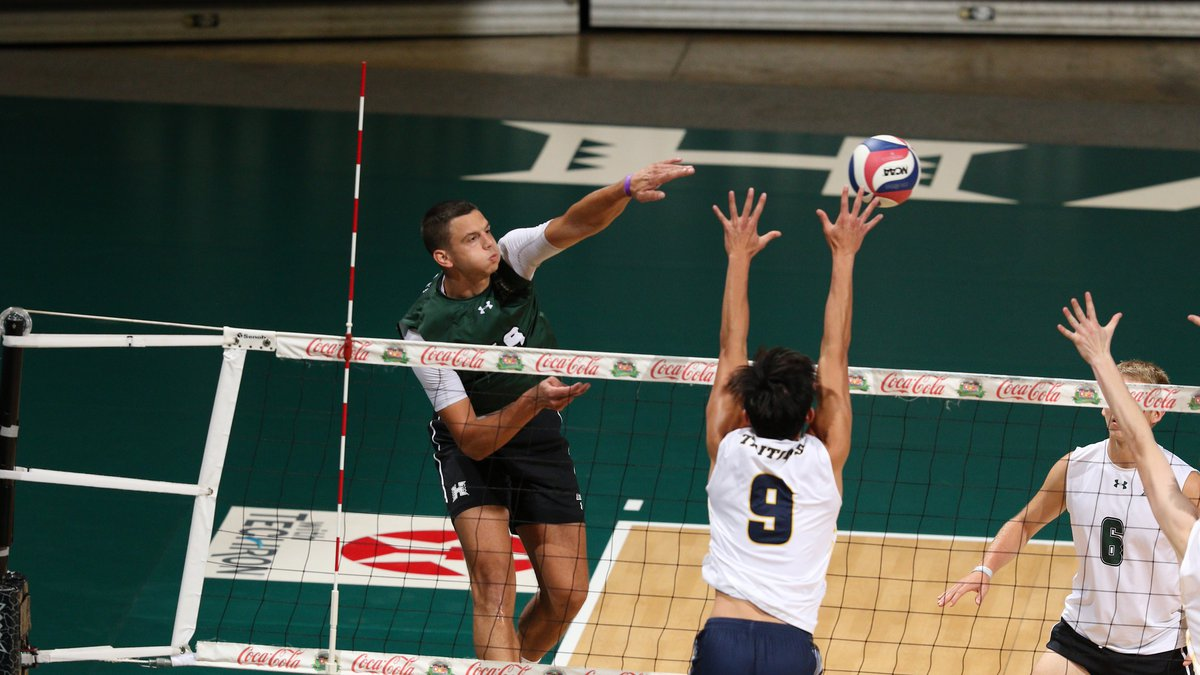 The top-ranked Rainbow Warriors volleyball team continued their streak of dominance, downing UC...