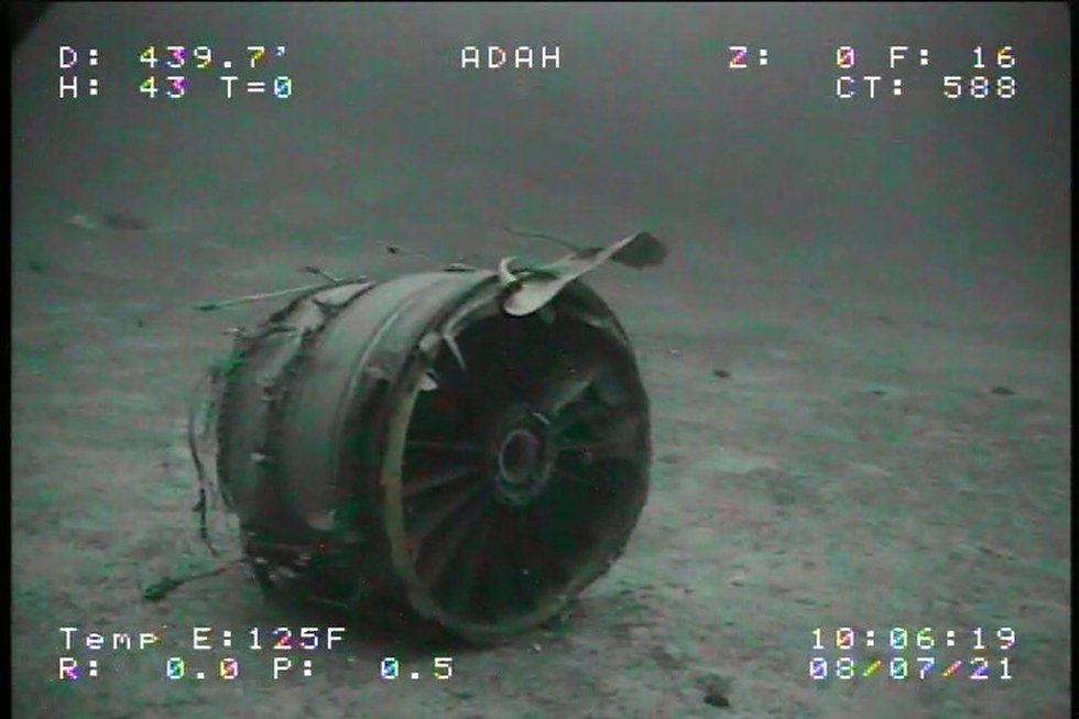 The NTSB located the wreckage of a Boeing 737-200 cargo plane that crashed off Oahu earlier ...