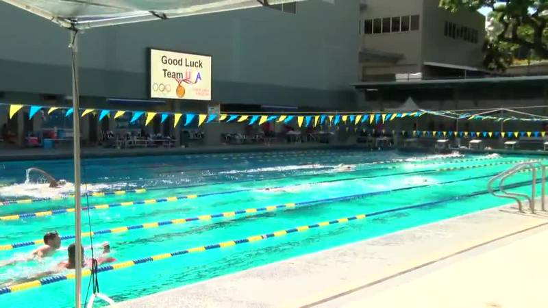 USA Swim hosts final practice with fans at Punahou ahead of Tokyo Olympics