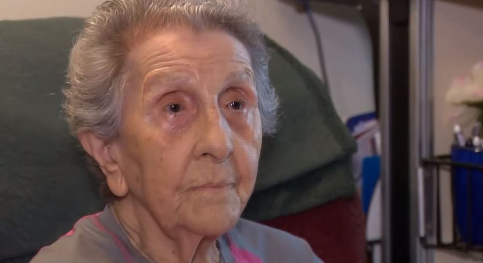 Florence Puana, 99, recorded a deposition ahead of the mailbox trial so that prosecutors could...