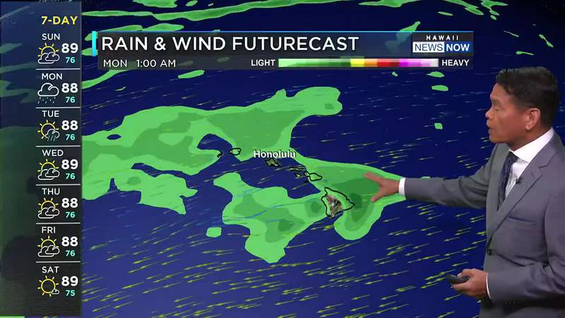 The chance for showers will increase as remnants of former Tropical Cyclone Guillermo reach the...