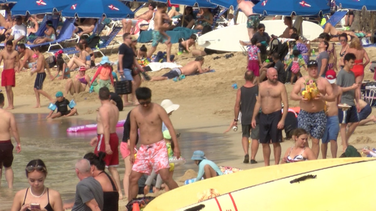 Beaches were packed across the state