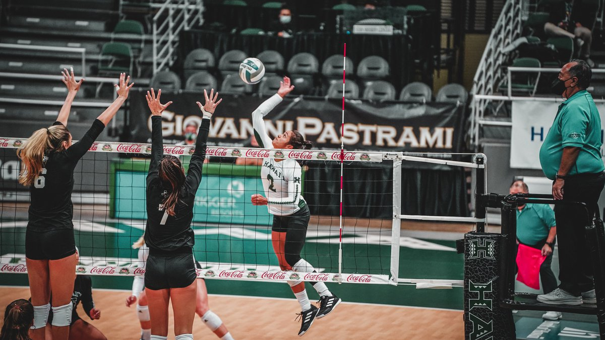 A tough weekend on the road for the University of Hawaii women's volleyball team, falling to...