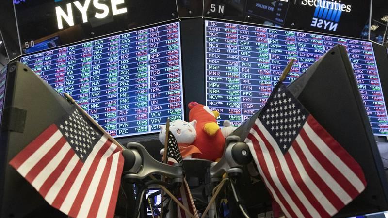 File photo of stocks displayed at New York Stock Exchange (AP Photo/Mark Lennihan)