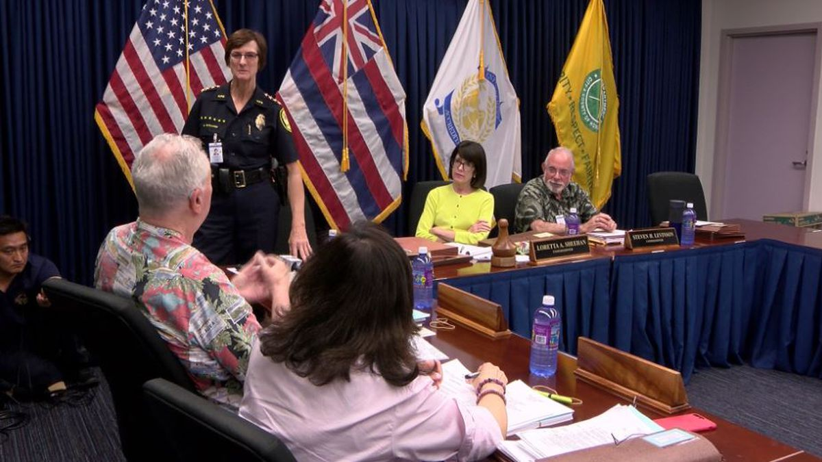 Chief Ballard met with commissioners Wednesday.