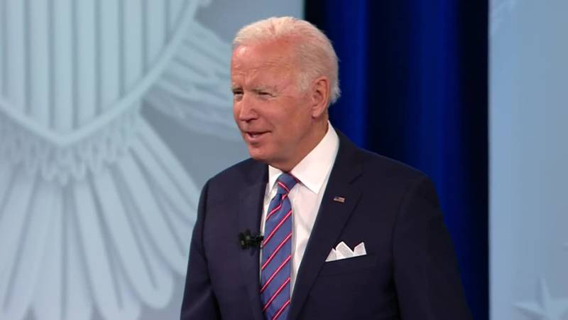 President Joe Biden told a town hall audience on Thursday that there will be a spending deal.