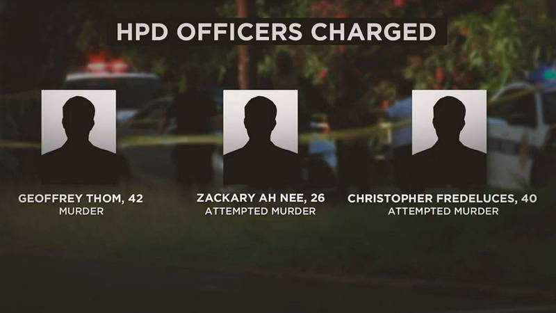 The three officers were charged Tuesday.