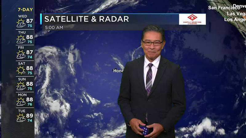 Morning Weather Forecast from Hawaii News Now - Wednesday, September 22, 2021