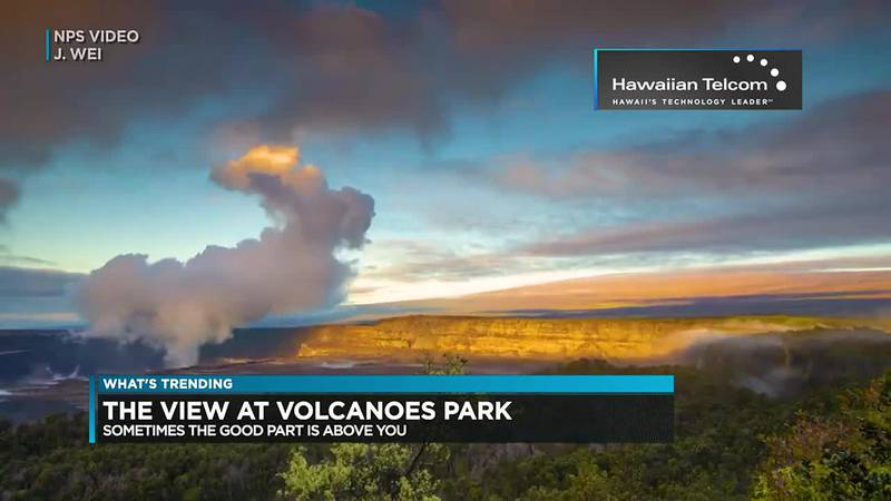 Trending: The view at Volcanoes National Park, Squid Game challenge