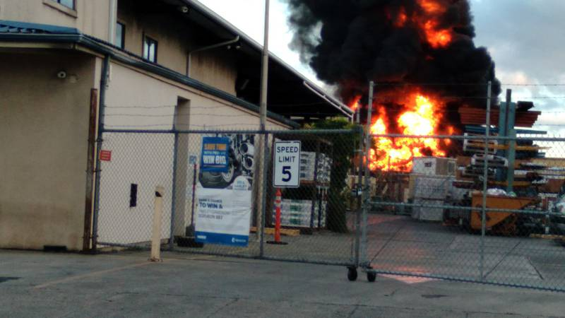 A witness captured the flames moments after the fire began.