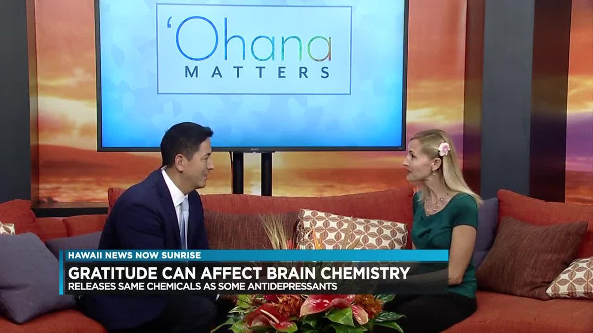 Licensed marriage and family therapist Britt Young, says that gratitude can affect brain...