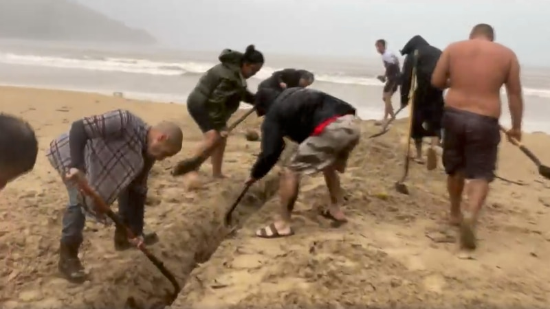 At Kahana Bay, neighbors came together in the rain to quickly dig a trench they know first-hand...