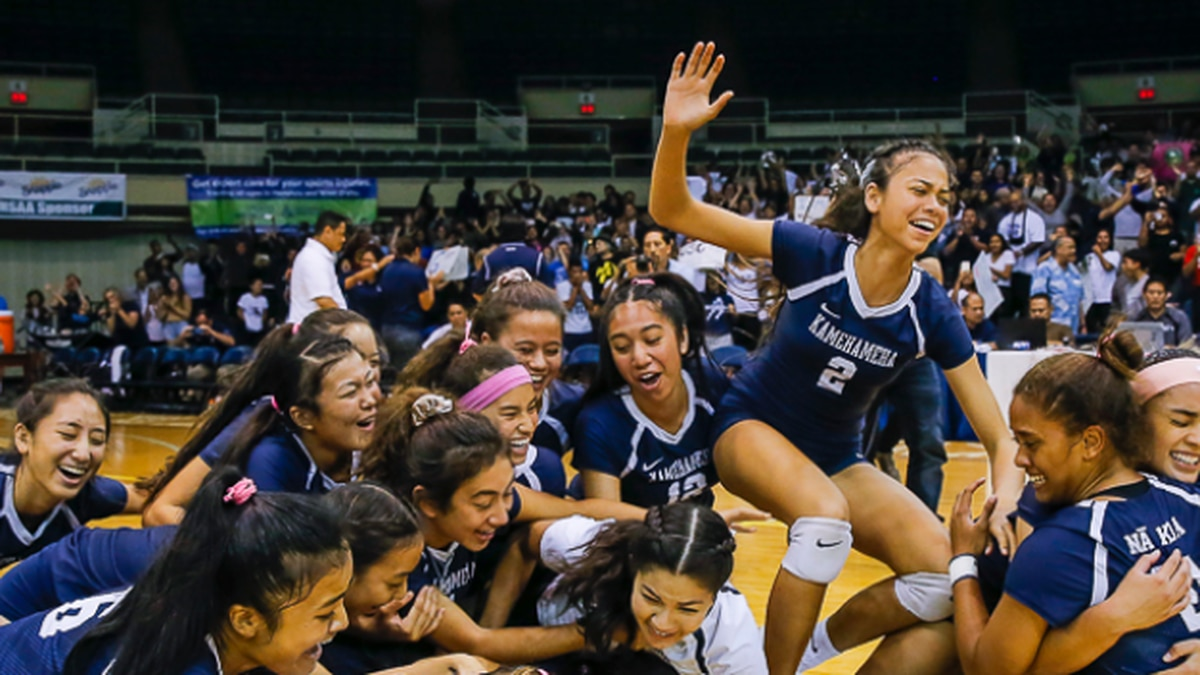 The Warriors took home their 22nd state title in girls volleyball with a 3-1 set win over Punahou