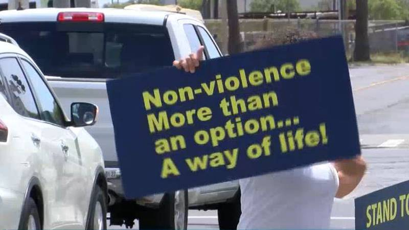 File footage / rally against domestic violence.