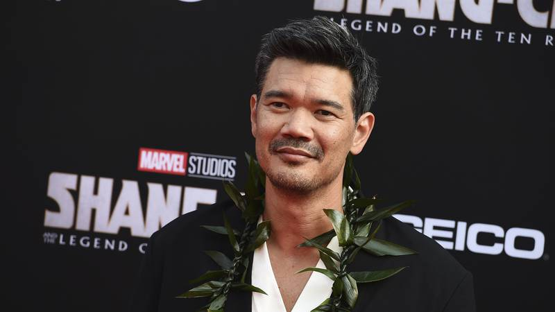 """Director Destin Daniel Cretton arrives at the premiere of """"Shang-Chi and the Legend of the Ten..."""