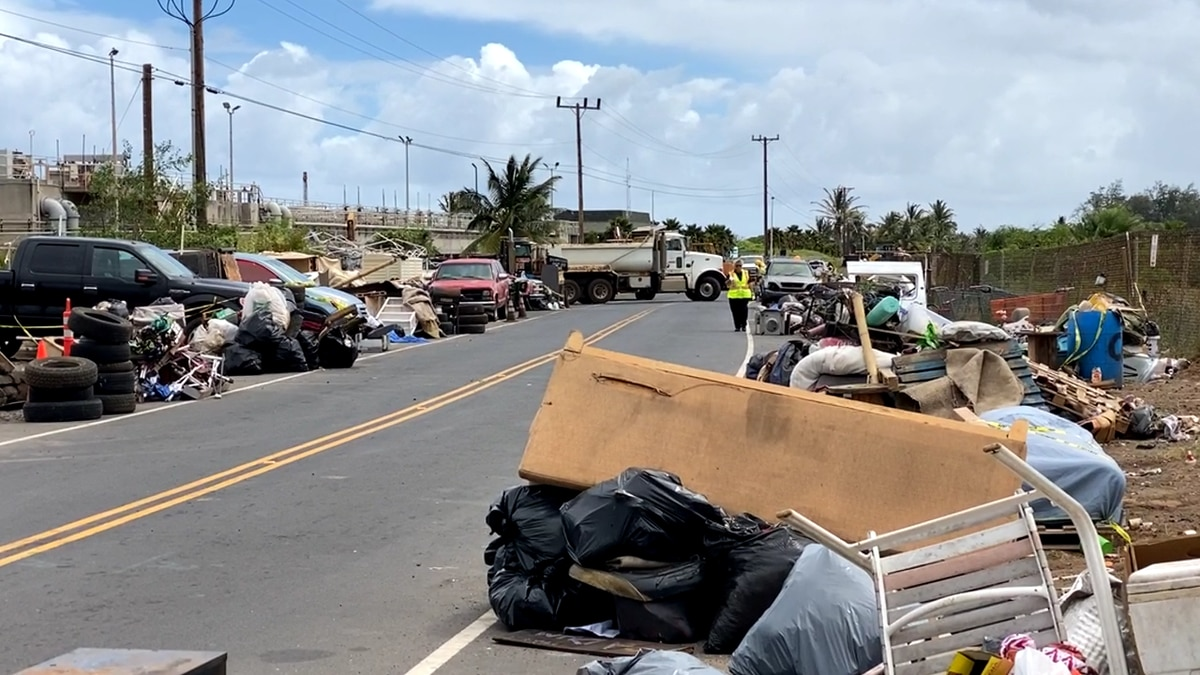 Maui County employees and contractors removed 13 remaining vehicles and eight more tons of...