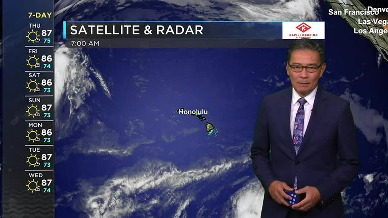 Morning Weather Forecast from Hawaii News Now - Thursday, June 10, 2021