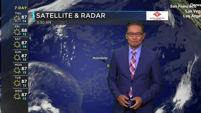 Morning Weather Forecast from Hawaii News Now - Thursday, June 3, 2021