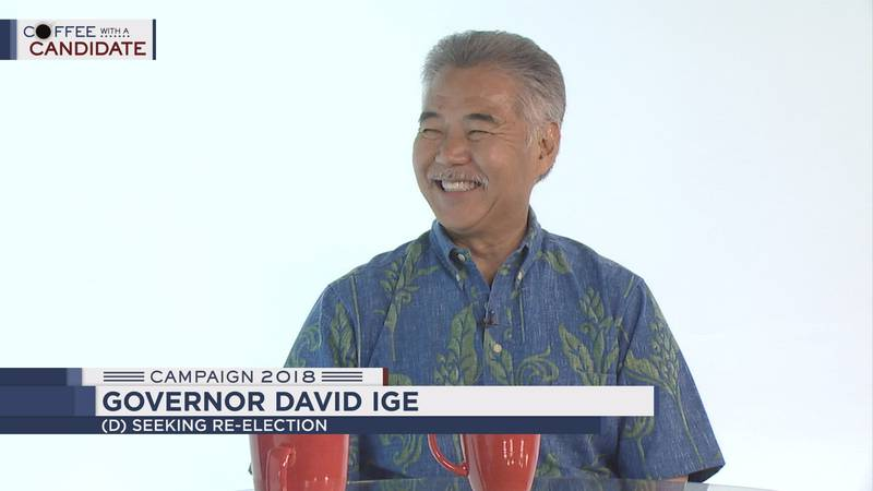 David Ige is the Democratic incumbent in the race for governor.