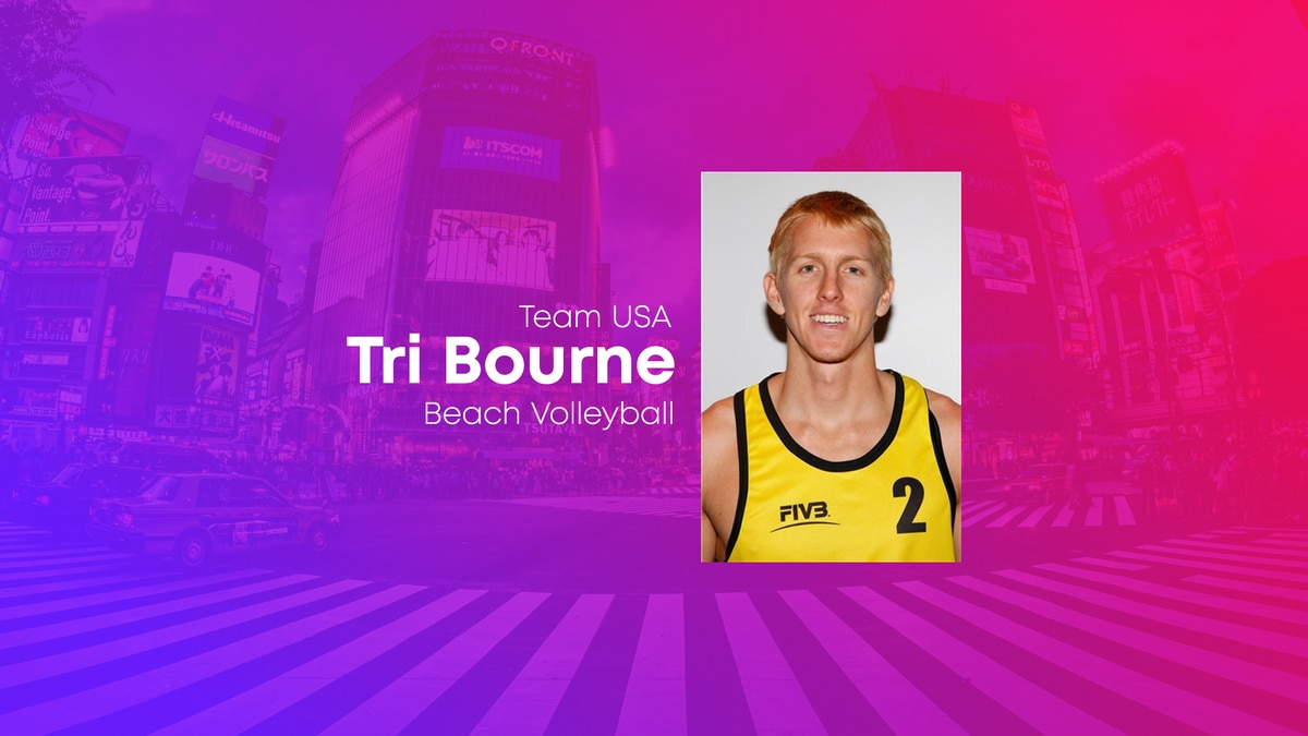 Tri Bourne is set to compete for Team USA's beach volleyball men's team.