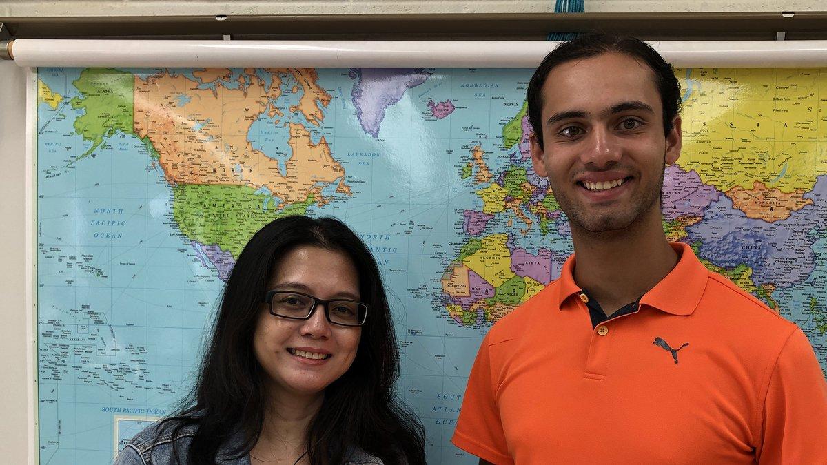 Mililani High School student Armaan Needles and his teacher, Ms. Charlie Buenafe.