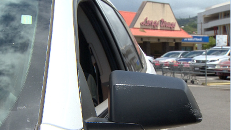 Police say a 34-year-old woman was in the driver's seat of her car with the window down when a...