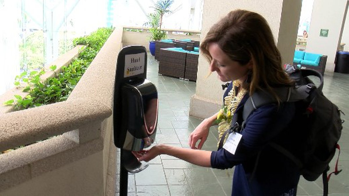 Attendees at the Pacific Risk Management Ohana conference had access to extra hand sanitizer...