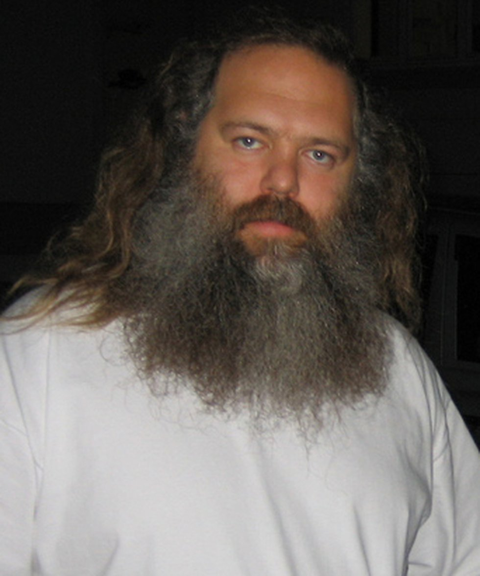 Photo of music producer Rick Rubin at Abbey Road Studios in 2006.