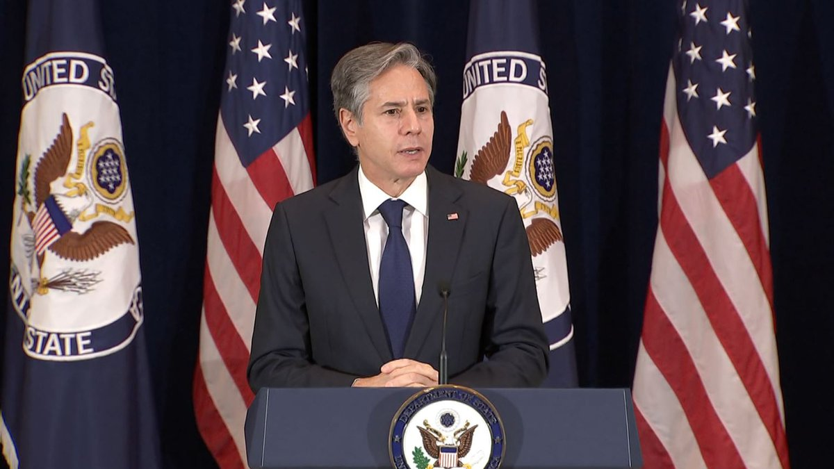 FILE - Secretary of State Antony Blinken speaks at a State Department event commemorating the...