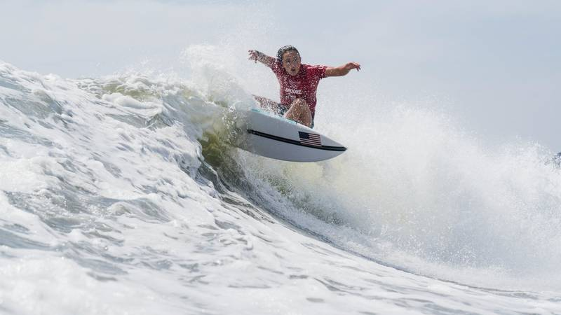 Punahou's Carissa Moore advanced to the women's surfing semifinals at the 2020 Olympics after...