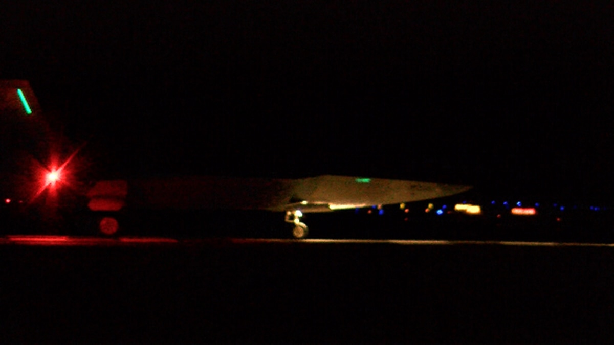 Two F-22 Raptors took off from Joint Base Pearl Harbor Hickam at about 4 p.m. Sunday. A third...