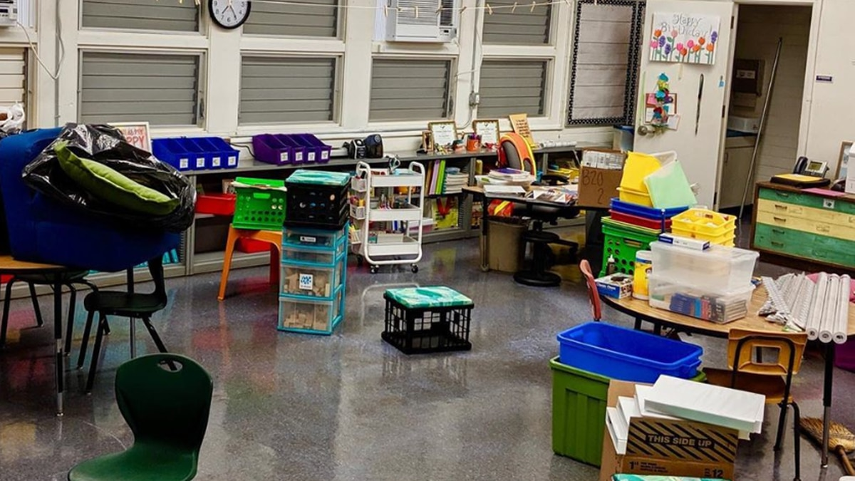 The inside of a classroom at Fern Elementary School in Hawaii.