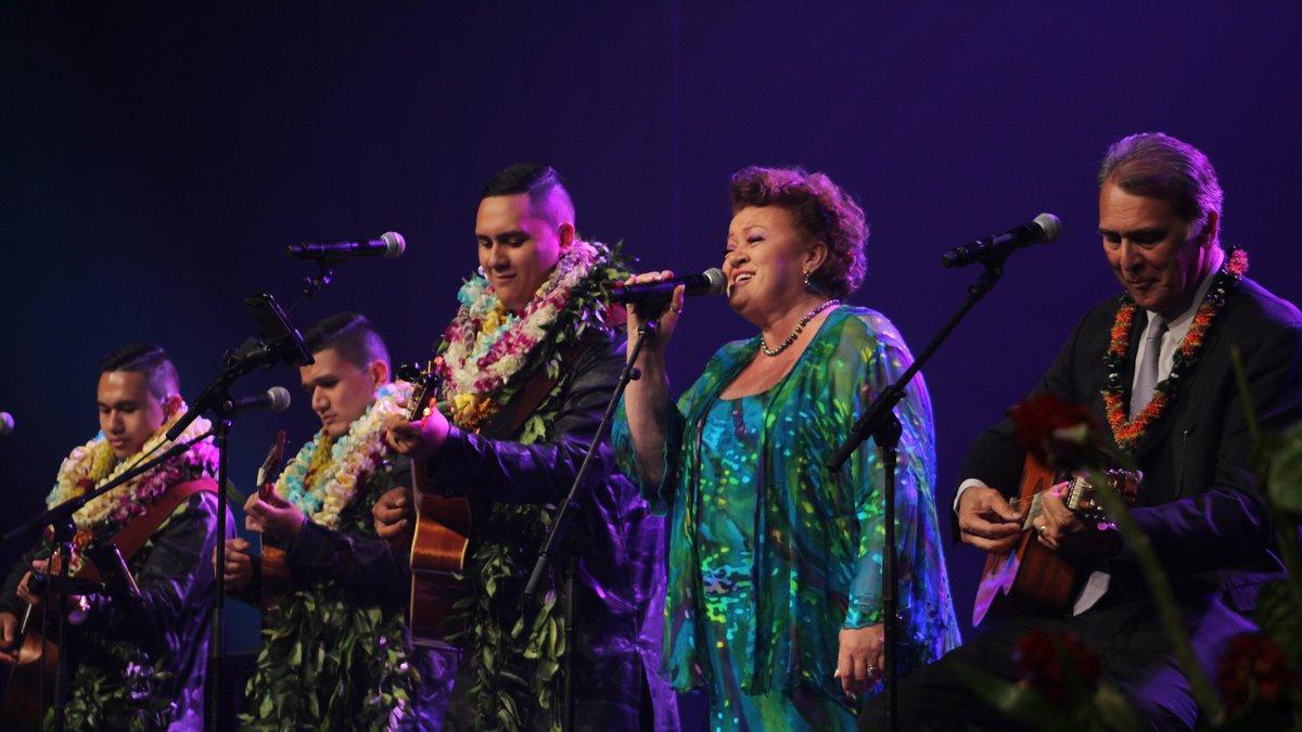 Na Wai Eha performs with Robi Kahakalau at the annual Na Hoku Hanohano Awards.