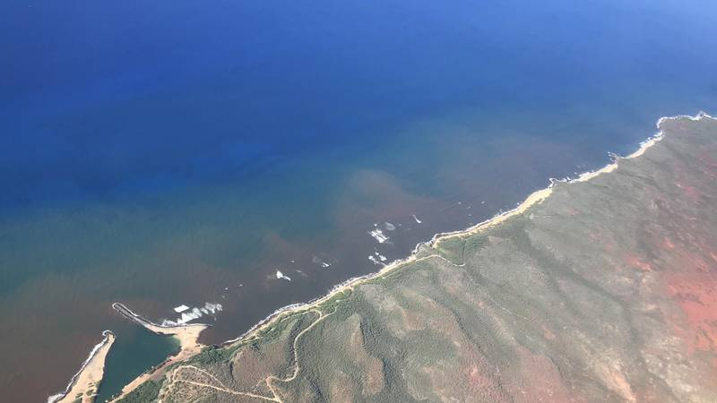 In this 2020 aerial photo provided by the Arizona State University's Global Airborne...