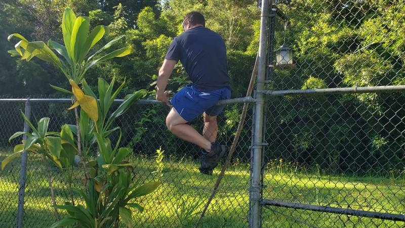 A trespasser gets into a precarious situation on way to the illegal Haiku Stairs hike.