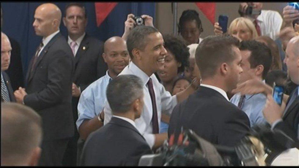 President Barack Obama (center)