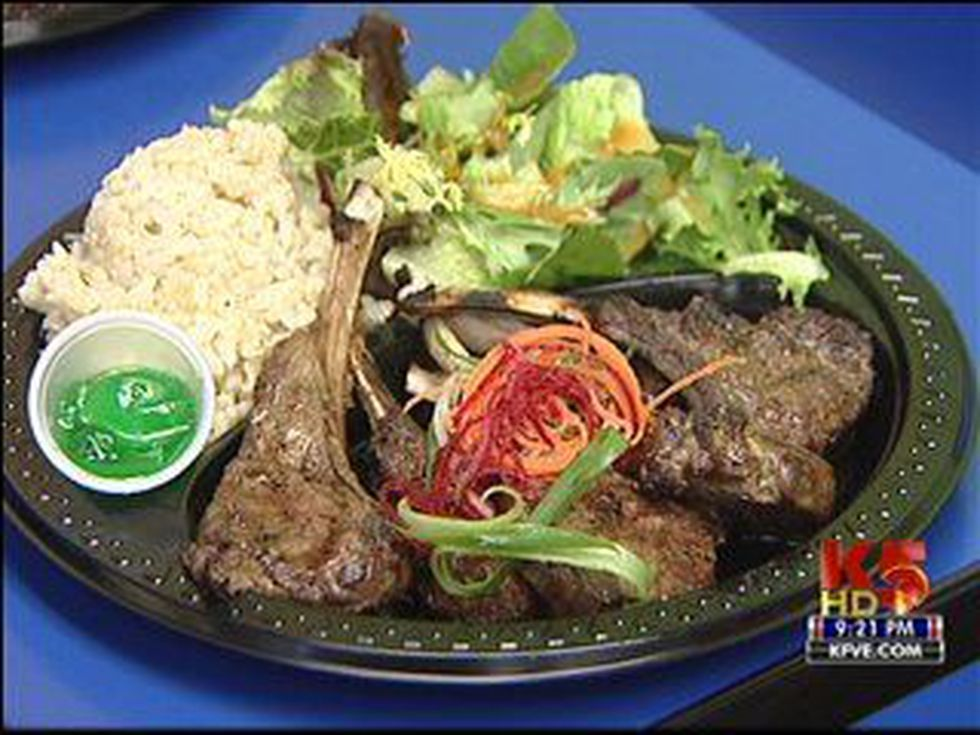 Rack of lamb plate lunch