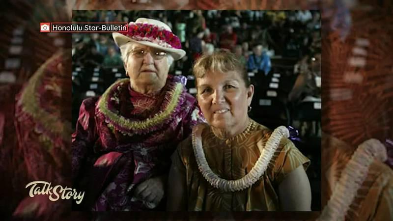 Aunty Dottie Thompson and Aunty Luana Kawelu