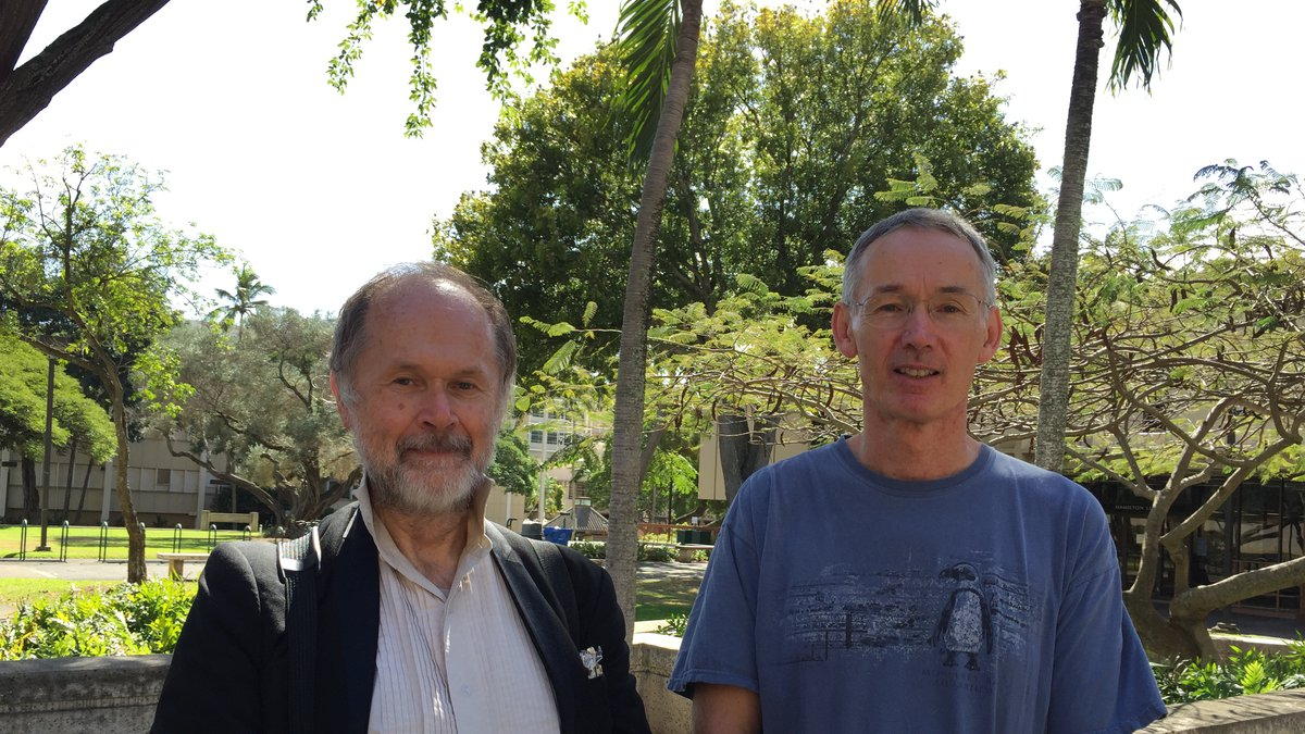 Raymond Petry (left) and his brother Doug Petry (right) at UH-Manoa in 2016.