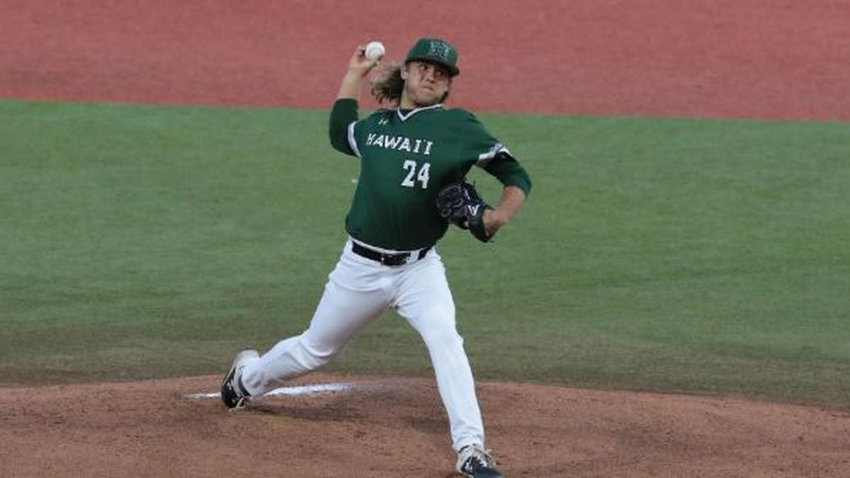 UH's Aaron Davenport won his NCAA-leading fourth game by going 7.0 innings with a season-high...