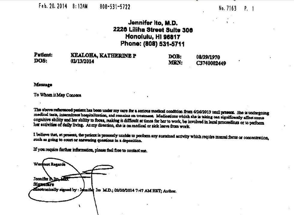 Dr. Ito letter to state judge