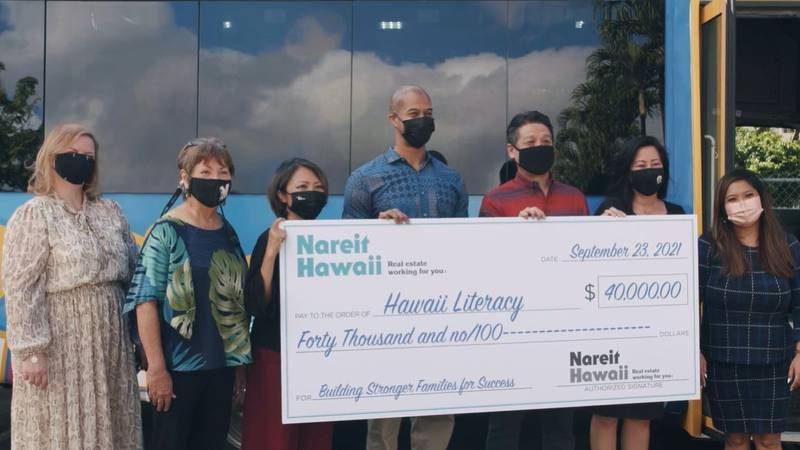 Nareit Hawaii gifted $40,000 to support Hawaii Literacy's effort to reach underserved Oahu...