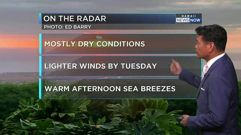 Drier-than-normal conditions and lots of sunshine are in the forecast.